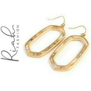 🎉HP🎉Gold Marbled Hexagon Earrings